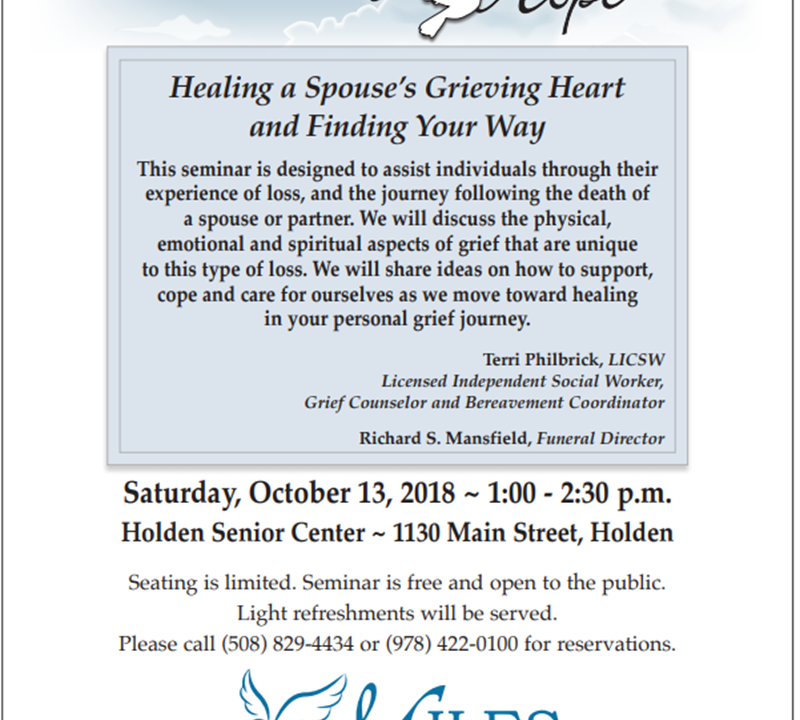 Sharing Hope Grief Recovery Series